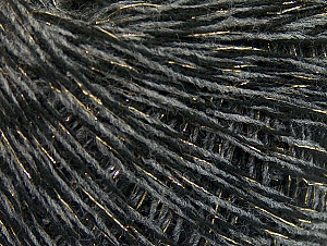 Fiber Content 90% Acrylic, 10% Metallic Lurex, Brand ICE, Grey, Gold, Black, fnt2-62531