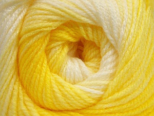 Fiberinnehåll 100% Baby akryl, Yellow Shades, White, Brand ICE, Yarn Thickness 2 Fine  Sport, Baby, fnt2-62537