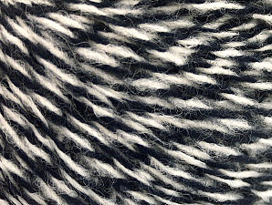 Fiber Content 50% Wool, 50% Acrylic, White, Brand ICE, Dark Navy, Yarn Thickness 3 Light  DK, Light, Worsted, fnt2-62561