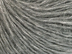 Mohair  Fiber Content 30% Acrylic, 30% Mohair, 20% Wool, 20% Polyamide, White, Brand ICE, Grey, fnt2-62702