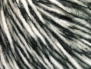 Fiber Content 45% Acrylic, 25% Wool, 20% Mohair, 10% Polyamide, White, Brand ICE, Black, fnt2-62837