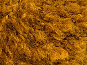 Fiber Content 45% Acrylic, 25% Wool, 20% Mohair, 10% Polyamide, Brand ICE, Dark Gold, fnt2-62854