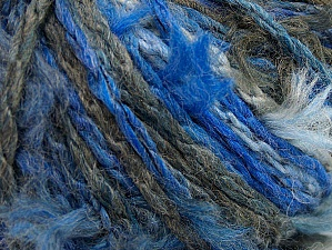 Fiber Content 70% Wool, 5% Polyamide, 25% Acrylic, Brand ICE, Grey, Blue Shades, fnt2-63155