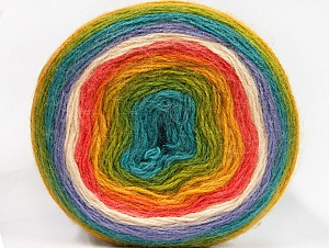 Fiber Content 60% Premium Acrylic, 20% Wool, 20% Mohair, Turquoise, Salmon, Lilac, Brand ICE, Green, Gold, Cream, fnt2-63281