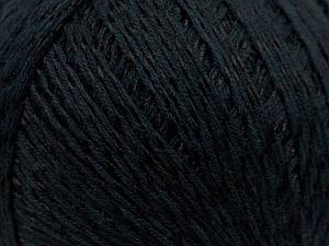 Fiber Content 70% Mercerised Cotton, 30% Viscose, Brand KUKA, Black, Yarn Thickness 2 Fine  Sport, Baby, fnt2-16798