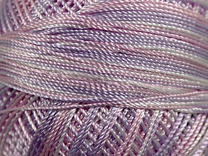 Fiber Content 100% Micro Fiber, Brand YarnArt, White, Pink, Lilac, Yarn Thickness 0 Lace  Fingering Crochet Thread, fnt2-17335