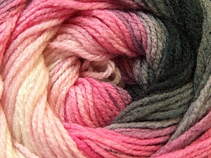 Fiber Content 100% Acrylic, White, Pink, Orchid, Brand ICE, Grey, Black, Yarn Thickness 3 Light  DK, Light, Worsted, fnt2-22026