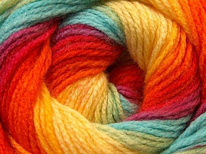 Fiber Content 100% Acrylic, Red, Orange, Brand ICE, Green, Blue, Yarn Thickness 3 Light  DK, Light, Worsted, fnt2-22033