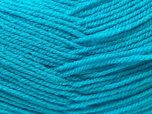 Fiber Content 100% Acrylic, Turquoise, Brand ICE, Yarn Thickness 3 Light  DK, Light, Worsted, fnt2-22413