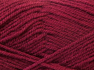 Fiber Content 100% Acrylic, Brand ICE, Burgundy, Yarn Thickness 3 Light  DK, Light, Worsted, fnt2-22433