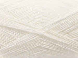 Very thin yarn. It is spinned as two threads. So you will knit as two threads. Yardage information is for only one strand. Fiber Content 100% Acrylic, White, Brand ICE, Yarn Thickness 1 SuperFine  Sock, Fingering, Baby, fnt2-22434