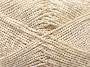 Fiber Content 100% Mercerised Cotton, Brand ICE, Cream, Yarn Thickness 2 Fine  Sport, Baby, fnt2-23323
