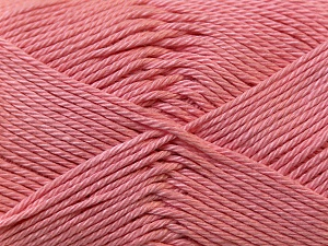 Fiber Content 100% Mercerised Cotton, Salmon, Brand ICE, Yarn Thickness 2 Fine  Sport, Baby, fnt2-23329