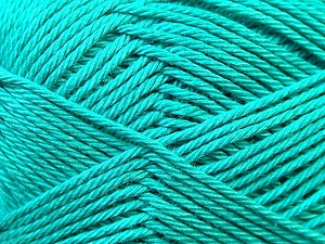 Fiber Content 100% Mercerised Cotton, Sea Green, Brand ICE, Yarn Thickness 2 Fine  Sport, Baby, fnt2-23332