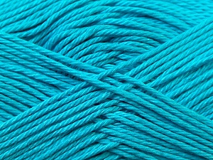 Fiber Content 100% Mercerised Cotton, Turquoise, Brand ICE, Yarn Thickness 2 Fine  Sport, Baby, fnt2-23338
