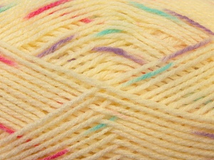 Fiber Content 100% Baby Acrylic, Turquoise, Lilac, Light Yellow, Brand ICE, Fuchsia, Yarn Thickness 2 Fine  Sport, Baby, fnt2-23506