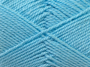 Fiber Content 100% Acrylic, Light Blue, Brand ICE, Yarn Thickness 2 Fine  Sport, Baby, fnt2-23603