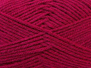 Worsted  Fiber Content 100% Acrylic, Brand ICE, Dark Pink, Yarn Thickness 4 Medium  Worsted, Afghan, Aran, fnt2-23731
