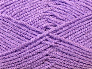 Worsted  Fiber Content 100% Acrylic, Lilac, Brand ICE, Yarn Thickness 4 Medium  Worsted, Afghan, Aran, fnt2-23734