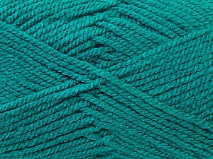 Worsted  Fiber Content 100% Acrylic, Sea Green, Brand ICE, Yarn Thickness 4 Medium  Worsted, Afghan, Aran, fnt2-23740