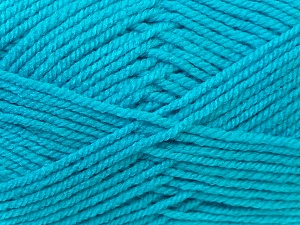Worsted  Fiber Content 100% Acrylic, Turquoise, Brand ICE, Yarn Thickness 4 Medium  Worsted, Afghan, Aran, fnt2-23744