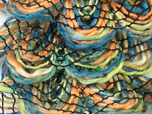Fiber Content 90% Acrylic, 10% Polyester, Orange, Brand ICE, Green, Blue, Yarn Thickness 6 SuperBulky  Bulky, Roving, fnt2-24128
