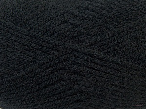 Bulky  Fiber Content 100% Acrylic, Brand ICE, Black, Yarn Thickness 5 Bulky  Chunky, Craft, Rug, fnt2-24499