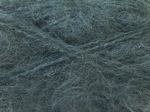 Fiber Content 70% Mohair, 30% Acrylic, Brand ICE, Dark Grey, Yarn Thickness 5 Bulky  Chunky, Craft, Rug, fnt2-24643