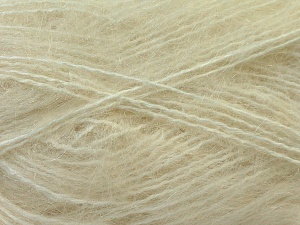 Fiber Content 70% Mohair, 30% Acrylic, Brand ICE, Cream, Yarn Thickness 5 Bulky  Chunky, Craft, Rug, fnt2-24645