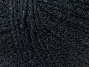 Fiber Content 40% Acrylic, 35% Wool, 25% Alpaca, Brand ICE, Black, Yarn Thickness 5 Bulky  Chunky, Craft, Rug, fnt2-25392
