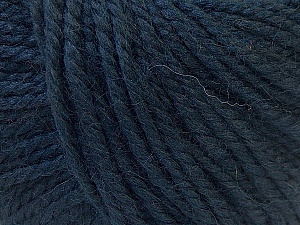 Fiber Content 40% Acrylic, 35% Wool, 25% Alpaca, Brand ICE, Dark Navy, Yarn Thickness 5 Bulky  Chunky, Craft, Rug, fnt2-25407