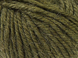 Fiber Content 40% Acrylic, 35% Wool, 25% Alpaca, Brand ICE, Dark Green, Yarn Thickness 5 Bulky  Chunky, Craft, Rug, fnt2-25451