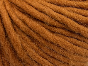 Fiber Content 100% Australian Wool, Light Brown, Brand ICE, Yarn Thickness 6 SuperBulky  Bulky, Roving, fnt2-26154