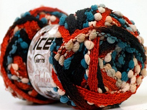 Fiber Content 85% Acrylic, 15% Nylon, White, Orange, Brand ICE, Blue, Black, Yarn Thickness 6 SuperBulky  Bulky, Roving, fnt2-26292