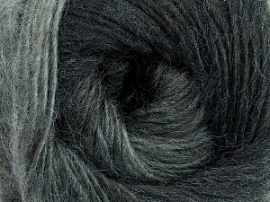 Fiber Content 40% Wool, 30% Mohair, 30% Acrylic, Brand ICE, Grey Shades, Yarn Thickness 3 Light  DK, Light, Worsted, fnt2-27200