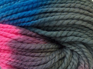 In this yarn a 100% Wool yarn is used. Dyeing process is totally hand made with natural plants and NO chemicals were used. For this reason, please be advised that some white parts may remain. Fiber Content 100% Wool, Turquoise, Pink, Brand ICE, Grey, Yarn Thickness 5 Bulky  Chunky, Craft, Rug, fnt2-30601