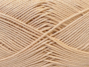 Fiber Content 100% Mercerised Cotton, Brand ICE, Beige, Yarn Thickness 2 Fine  Sport, Baby, fnt2-32536