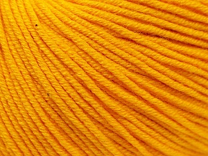 Fiber Content 60% Cotton, 40% Acrylic, Yellow, Brand ICE, Yarn Thickness 2 Fine  Sport, Baby, fnt2-32559