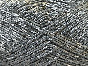 Fiber Content 50% Polyester, 50% Cotton, Brand ICE, Grey, Yarn Thickness 2 Fine  Sport, Baby, fnt2-33039