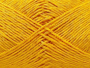 Fiber Content 50% Polyester, 50% Cotton, Yellow, Brand ICE, Yarn Thickness 2 Fine  Sport, Baby, fnt2-33046