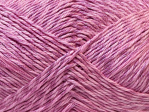 Fiber Content 50% Polyester, 50% Cotton, Lilac, Brand ICE, Yarn Thickness 2 Fine  Sport, Baby, fnt2-33049