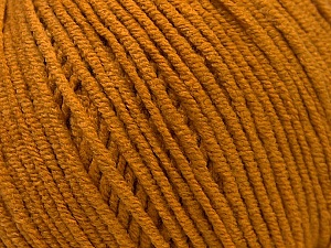 Fiber Content 50% Cotton, 50% Acrylic, Brand ICE, Dark Gold, Yarn Thickness 3 Light  DK, Light, Worsted, fnt2-33059