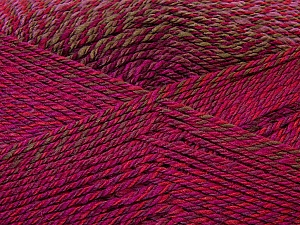 Fiber Content 75% Acrylic, 25% Wool, Red, Purple, Brand ICE, Green, Fuchsia, Yarn Thickness 3 Light  DK, Light, Worsted, fnt2-34601