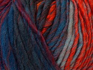 Fiber Content 60% Wool, 40% Acrylic, Orange, Brand ICE, Green Shades, Gold, Blue Shades, Yarn Thickness 4 Medium  Worsted, Afghan, Aran, fnt2-34611