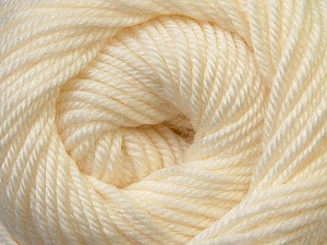 Fiber Content 100% Wool, Brand ICE, Cream, Yarn Thickness 3 Light  DK, Light, Worsted, fnt2-34705