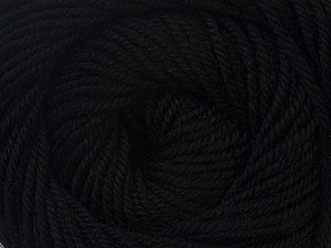 Fiber Content 100% Wool, Brand Ice Yarns, Black, Yarn Thickness 3 Light  DK, Light, Worsted, fnt2-34706