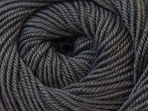 Fiber Content 100% Wool, Brand ICE, Dark Grey, Yarn Thickness 3 Light  DK, Light, Worsted, fnt2-34707