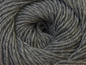 Fiber Content 100% Wool, Brand Ice Yarns, Grey Melange, Yarn Thickness 3 Light  DK, Light, Worsted, fnt2-34708