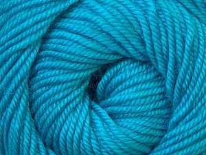 Fiber Content 100% Wool, Turquoise, Brand ICE, Yarn Thickness 3 Light  DK, Light, Worsted, fnt2-34719
