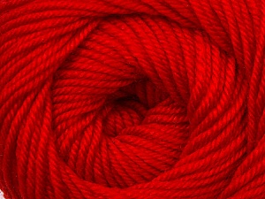Fiber Content 100% Wool, Red, Brand Ice Yarns, Yarn Thickness 3 Light  DK, Light, Worsted, fnt2-34725
